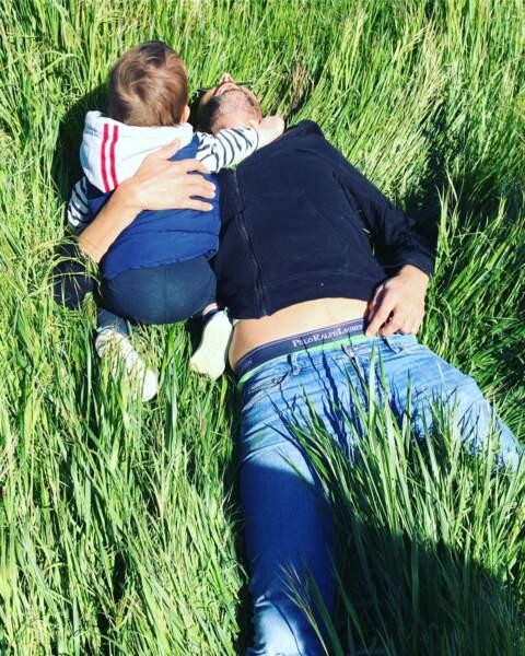 Pause détente avec son neveu