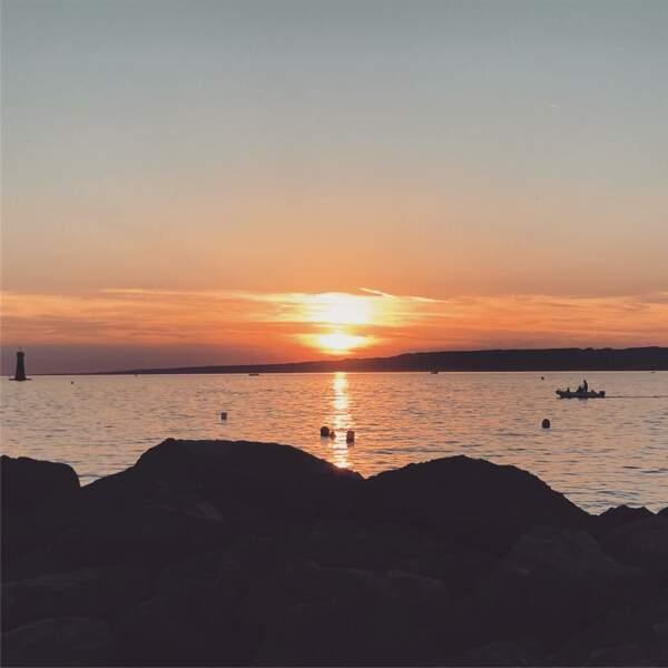 Laurent Kérusoré apprécie les couchers de soleil, ça tombe bien quand on vit dans le sud