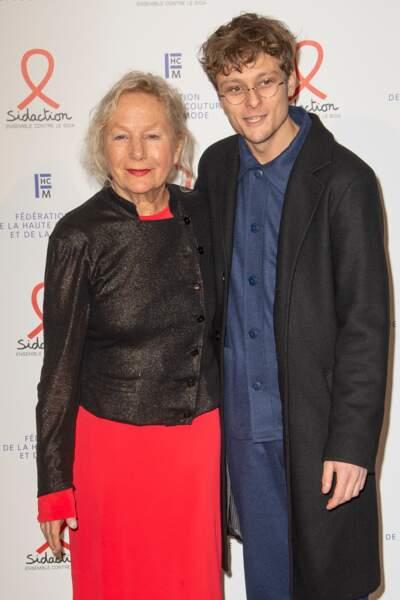 Et jolie complicité entre Agnès B. et l'acteur Rod Paradot.