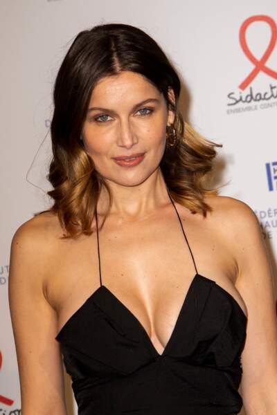 Laeticia Casta au 18e Dîner de la Mode en faveur du Sidaction.