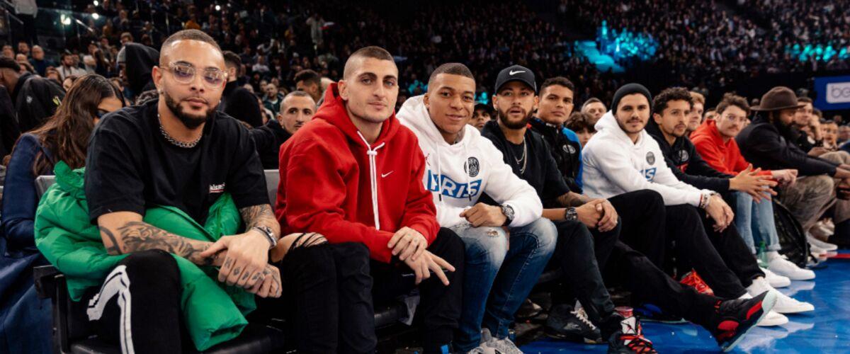 Kylian Mbappé, Neymar, Caroline Receveur, Jamel Debbouze... les stars au rendez-vous du match NBA à Paris (PHO