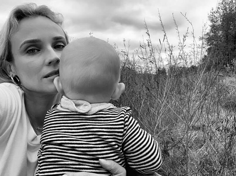 Avec l'autre amour de sa vie, sa petite fille, née en novembre 2018