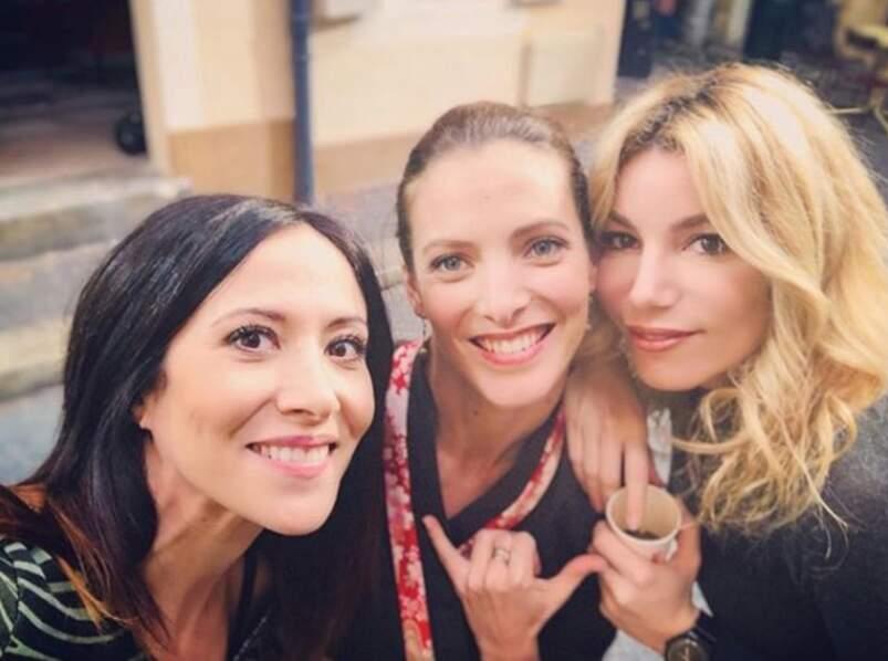 Avec les amies Fabienne Carat et Elodie Varlet