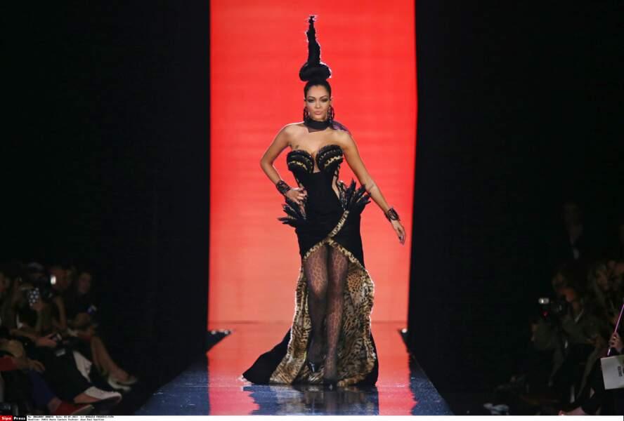 2013 : mannequin d'un jour pour le célèbre couturier Jean Paul Gaultier
