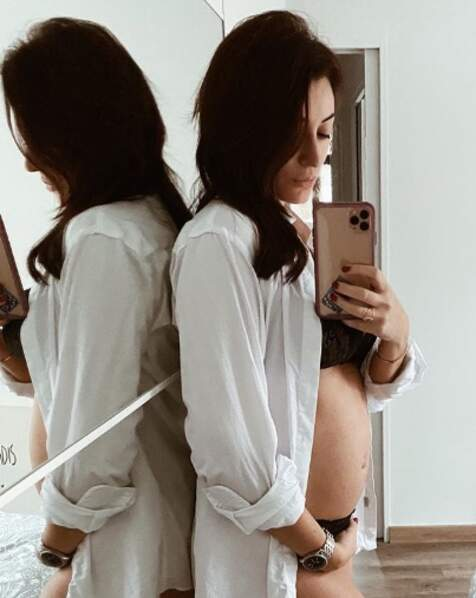 Ça pousse du côté de Rachel Legrain-Trapani, enceinte d'un garçon.