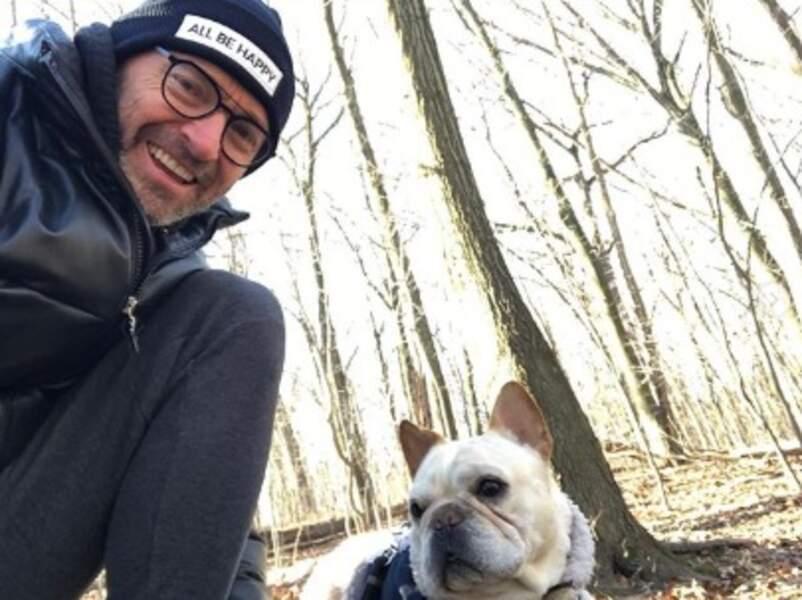Hugh Jackman, lui, a posé avec son chien Dali.