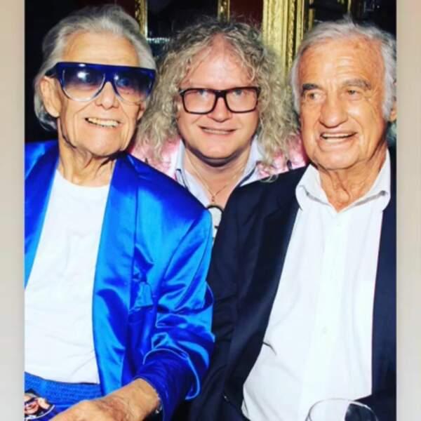 L'acheteur d'art se rendait régulièrement au cabaret Chez Michou, ici en compagnie de Jean-Paul Belmondo.