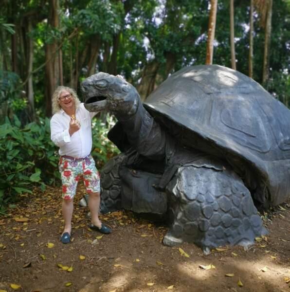 Aux Seychelles, il avait fait une drôle de rencontre !