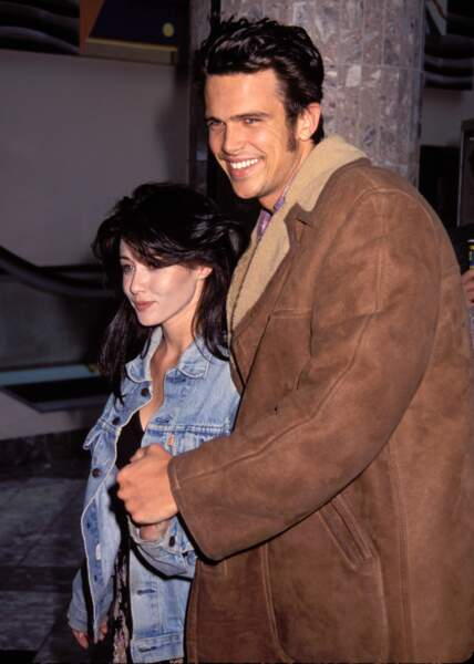 Shannen Doherty avec son premier mari, Ashley Hamilton, en 1993 : moins d'un an de mariage !