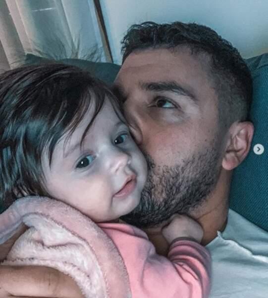 Tout aussi chou : Kevin Guedj a fait un gros bisou à sa fille Ruby.