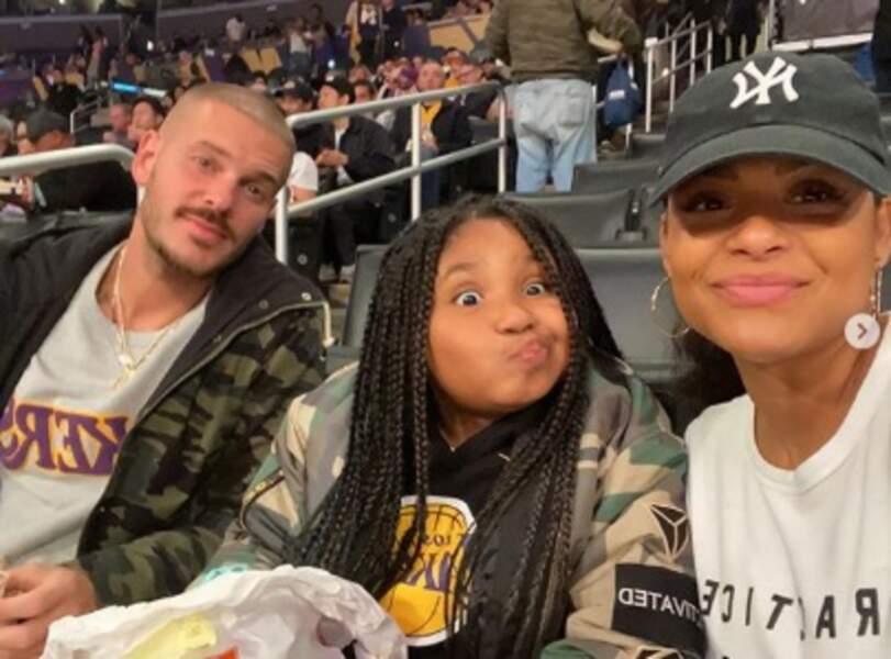 Et Matt Pokora, sa chérie Christina Milian et sa belle-fille Violet ont soutenu les Lakers à Los Angeles.