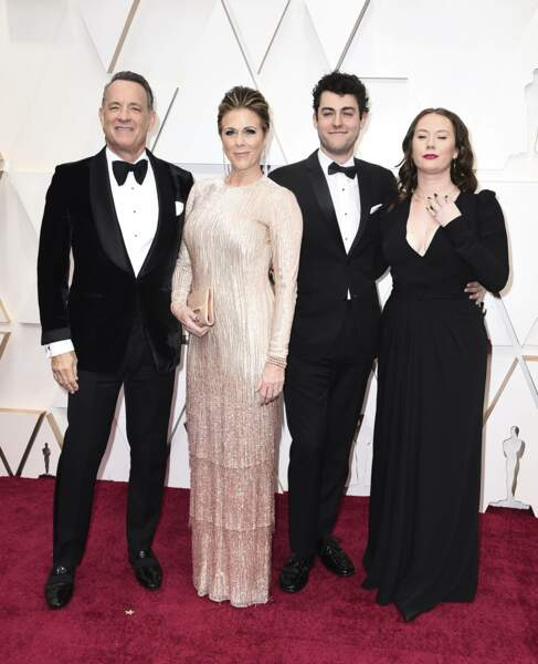 Tom Hanks, Rita Wilson, Truman Theodore Hanks et Elizabeth Ann Hanks