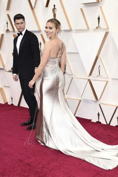 Colin Jost et Scarlett Johansson