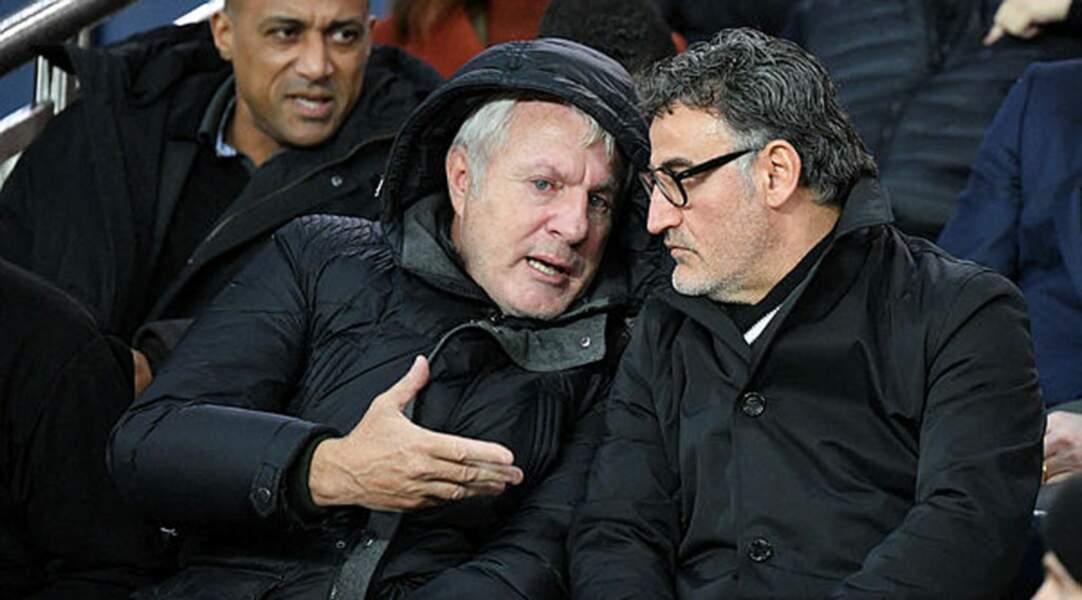 Echange tactique entre l'ex-entraîneur du PSG Luis Fernandez et l'actuel coach de Lille Christophe Galtier