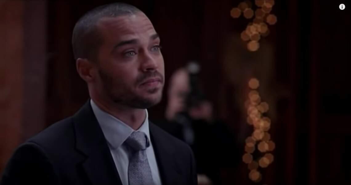 Grey's Anatomy (saison 10, ép. 12) : lors du mariage d'April et Matthew, Jackson se lève et fait une déclaration à son ex qui va tout changer