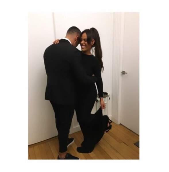 Et voici Amel Bent et son mari Patrick, apparemment très timide.