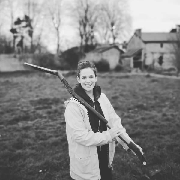 Lucie Lucas a pu réaliser son rêve : quitter la région parisienne pour s'installer à la campagne avec sa famille