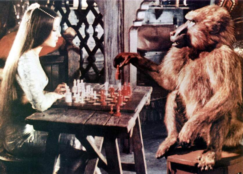 Dans Sinbad et l'œil du tigre (1977), la comédienne a eu un partenaire de jeu un petit peu particulier…