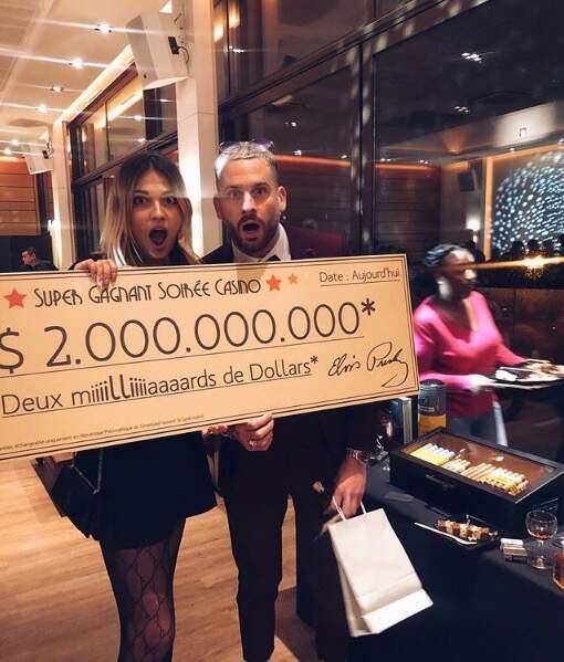 Raphaël Pépin et Tiffany (Les Anges 11) ont remporté le jackpot au casino, enfin ils essayent de nous le faire croire !