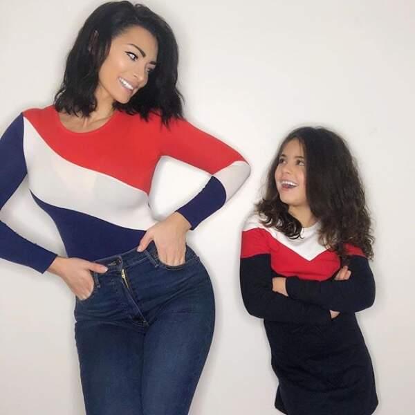 Emilie Nef Naf (Mamans et célèbres) pose avec sa fille. Un vrai copier-coller !
