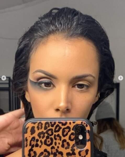 Shy'm est comme nous : son make-up ne ressemble à rien quand il est à moitié terminé.