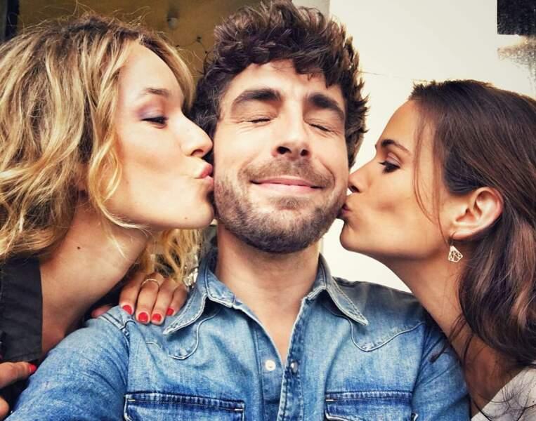 Mais il n'y a pas que les téléspectateurs qui l'adorent. Lucie Lucas et Elodie Fontan, son ex-acolyte de Clem, ne résistent pas au bel espagnol