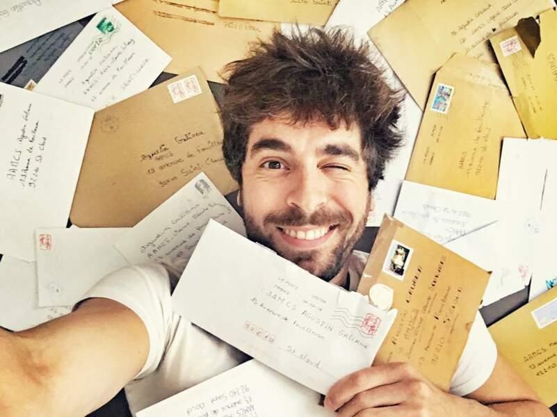 Agustin Galiana croule sous le courrier de ses fans !