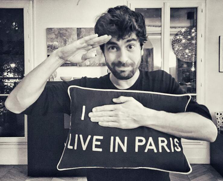 Né en Espagne, l'acteur est heureux de vivre à Paris !