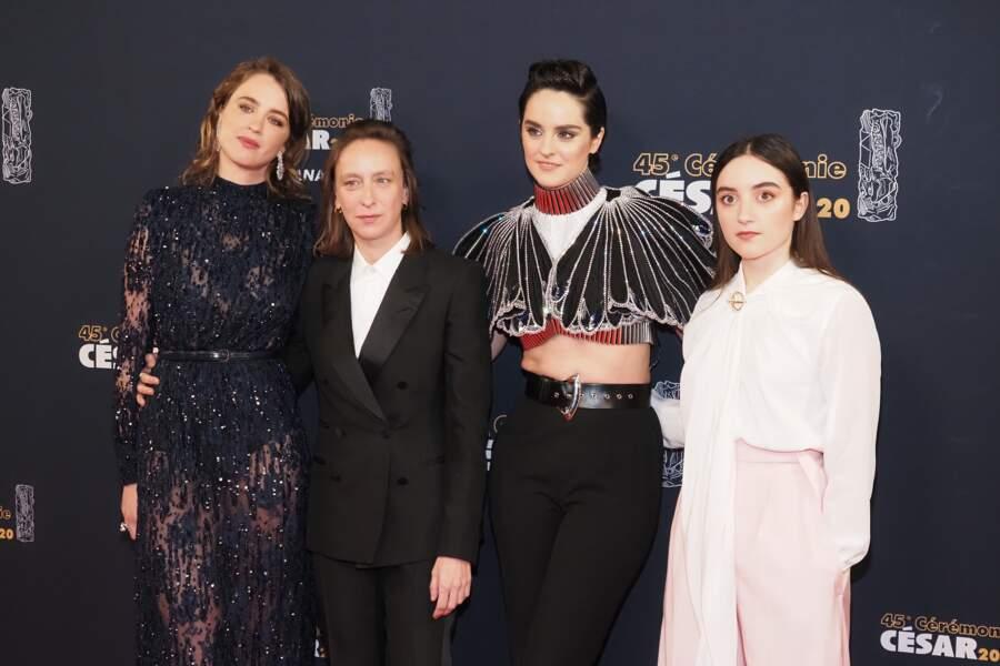 Céline Sciamma, entourée de ses actrices pour Portrait de la jeune fille en feu