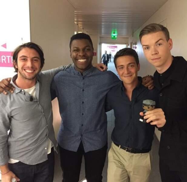 Il rencontre John Boyega et Will Poulter, à Paris pour la promotion du film-choc Detroit (sorti en 2017).