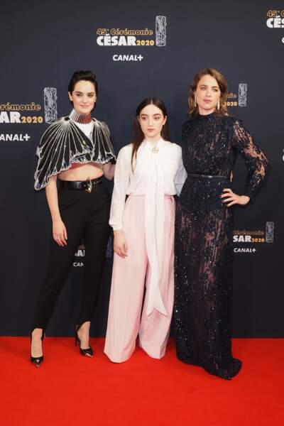 Adèle Haenel, Noémie Merlant et Luàna Bajrami pour Portrait de la jeune fille en feu
