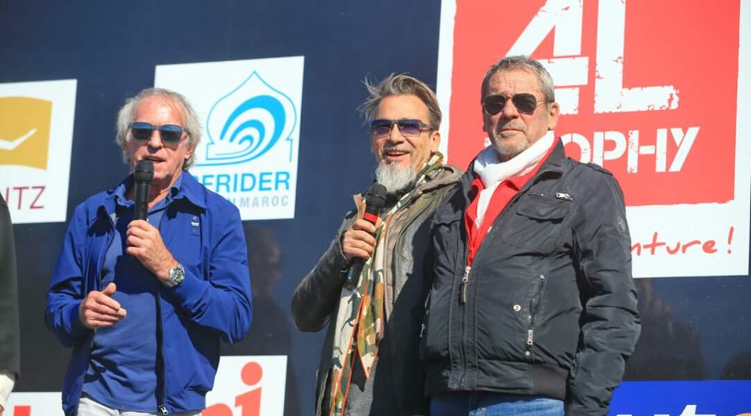 L'ancien pilote de Formule 1 Jacques Laffite et Florent Pagny ont rendu hommage à leurs enfants engagés dans le 4L Trophy !