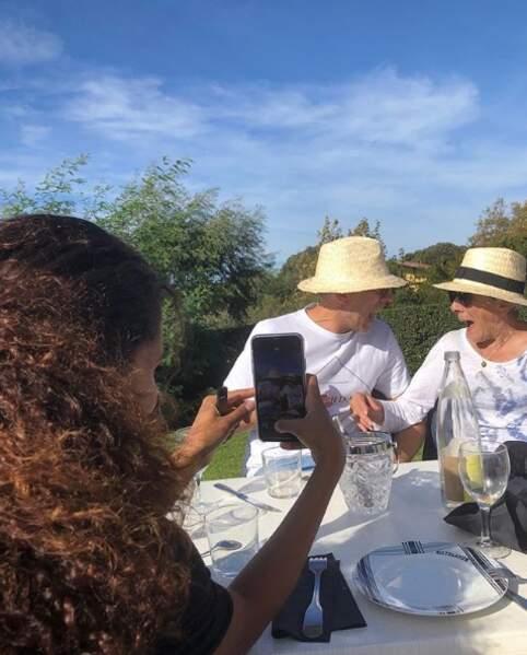 Avec Vincent Cassel et sa mère