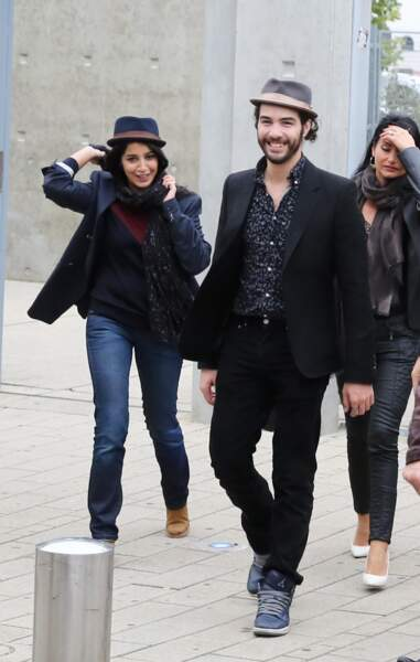Leila et son compagnon Tahar Rahim en octobre 2013