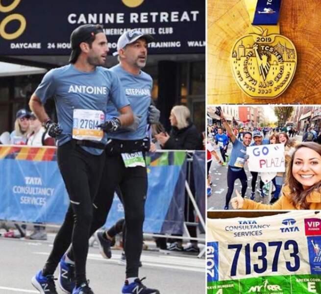 En novembre 2019, il a couru le célèbre marathon de New-York...