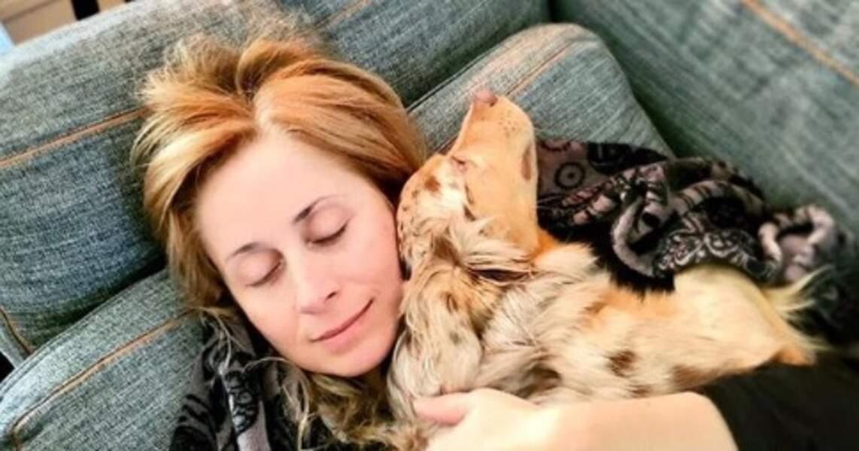 Lara Fabian a fait un gros câlin à sa belle Kayla.