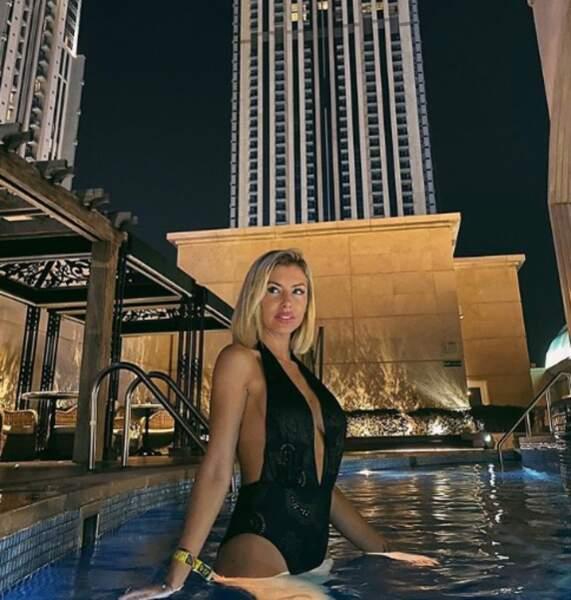 Paillettes pour Stéphanie Dubois à Dubaï.