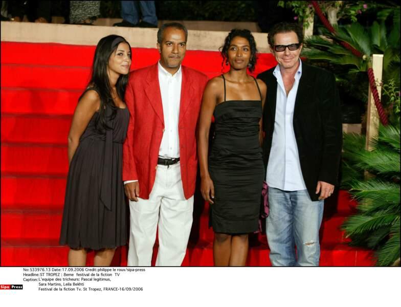 8eme festival de la fiction à St-Tropez, avec l'équipe des Tricheurs (2006)