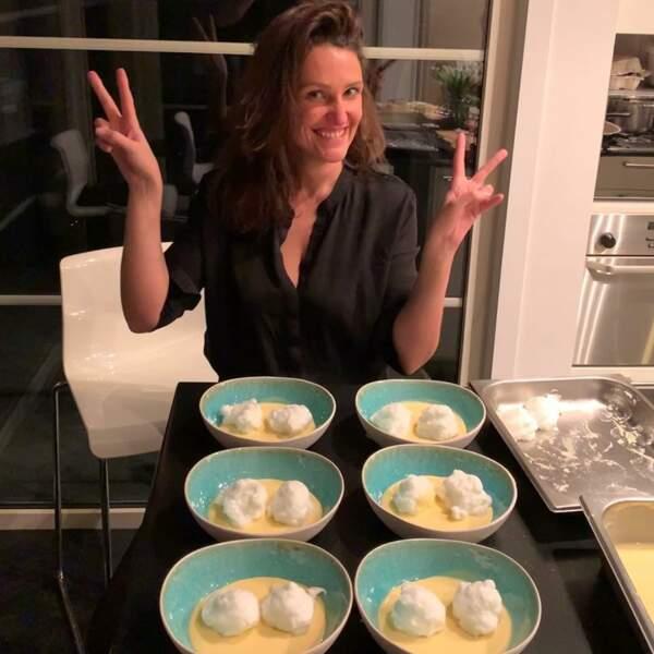 ... jusqu'aux flans qu'elle cuisine pour sa famille.
