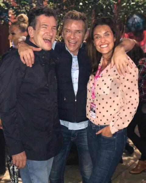 Alexandra Hubin aime vivre… et profiter de ses amis, comme Jean-Fi Jeansens, avec qui elle était ici au festival du rire de Liège.