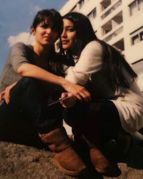 Avec sa plus grande amie, Géraldine Nakache au moment du tournage de Tout ce qui brille (2008)