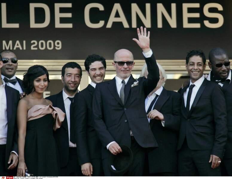 Montée des marches à Cannes triomphale avec l'équipe du film Un prophète (2009)