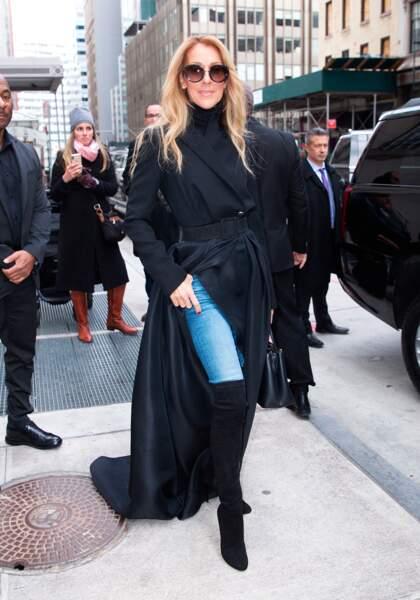Fashion week ou pas, quand Céline Dion se promène, les trottoirs se transforment en podium de défilé