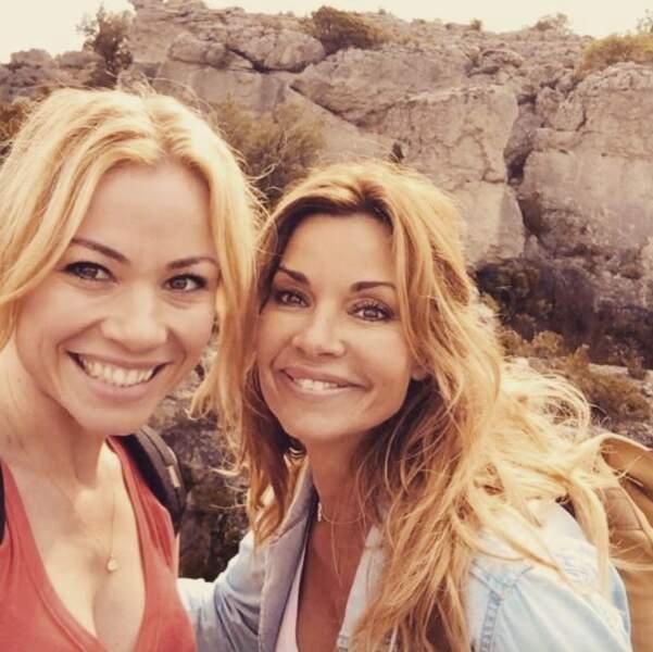 Selfie avec Maud Baecker, sa soeur Anna dans la série