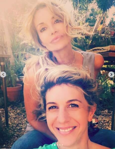 Avec Juliette Tresanini, l'interprète de sa collègue au lycée