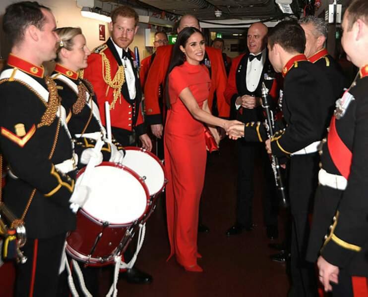 En effet, ils assistent à leur dernière soirée pour le festival de musique Mounbatten au Royal Albert Hall