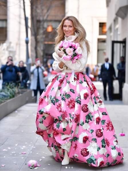 Céline Dion dans une tenue discrète et casual