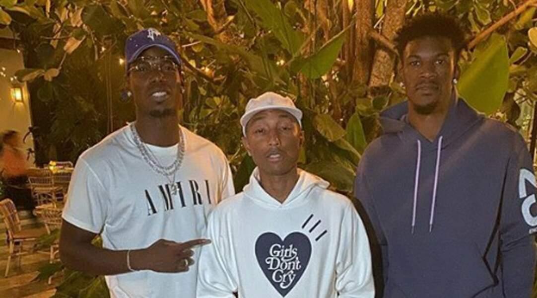 Lors d'un séjour aux USA, Paul Pogba a notamment passé une nuit avec la star du Miami Heat (NBA) Jimmy Butler et le rappeur Pharrell