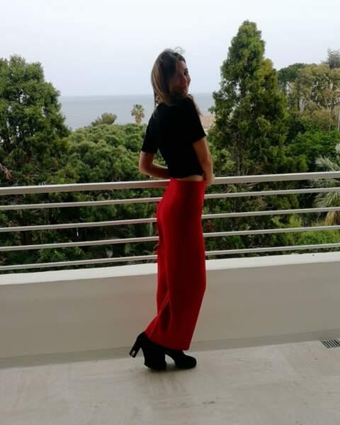 Alexandra Roost profite d'un balcon avec vue !