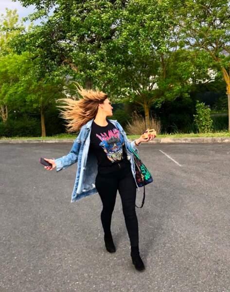 … ou en ville, elle est toujours dans le vent !